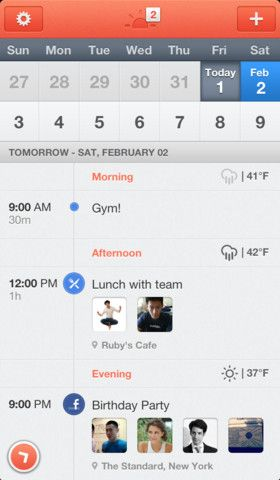 Sunrise, Clever iOS Calendar App for Google Calendar Users