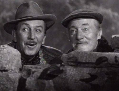 Walt Disney and actor Albert Sharpe - Darby O'Gill and the Little People (1959)