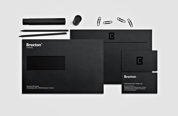 Identity design. Braxton stationary