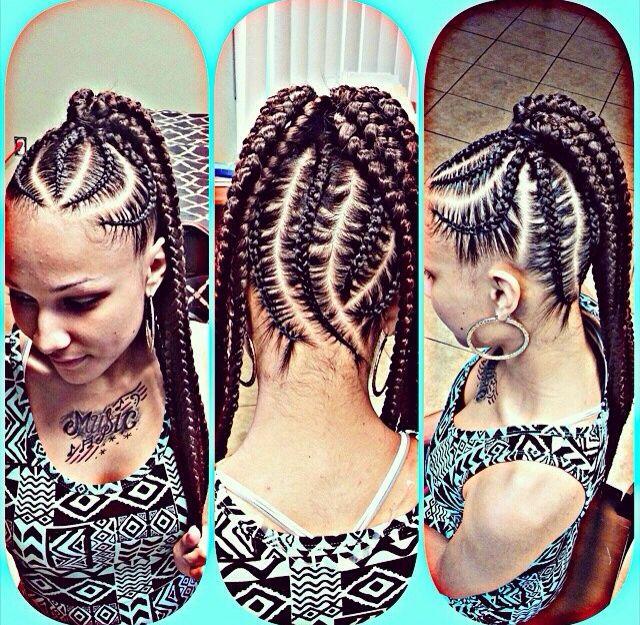 Natural hair styles. Protective styles. Big braids. Chunky braids. Ponytail braids. Braid ponytail.