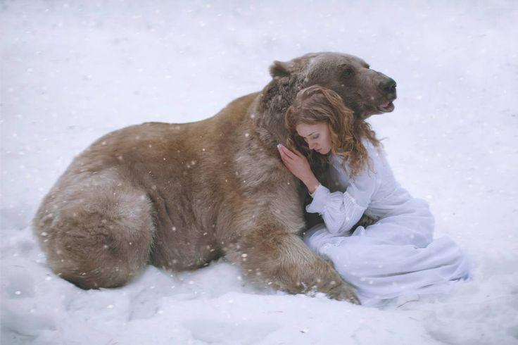 La fotografa Katerina Plotnikova cattura ritratti da sogno con animali reali ♥ Seguici su www.reflex-mania.com
