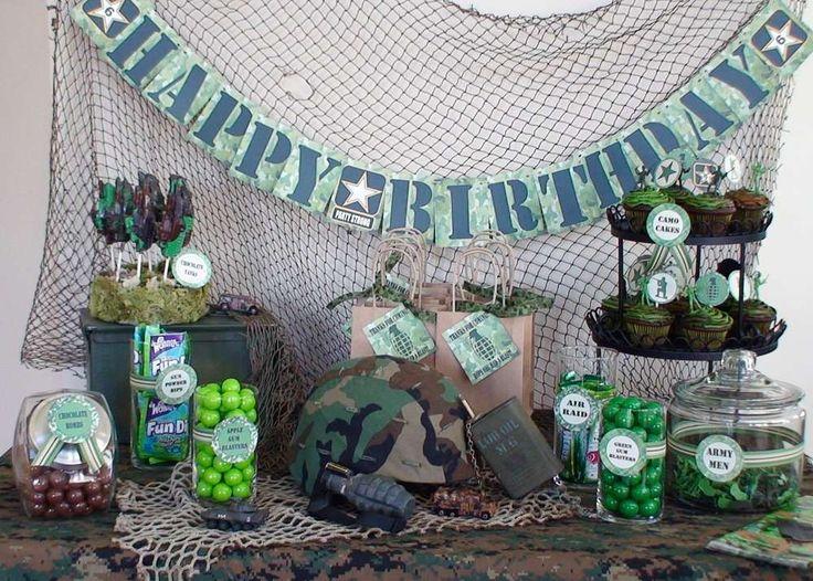 Una fiesta de cumpleaños con temática militar es una excelente opción para todas las edades. La fiesta puede incluir decoraciones militares, un área puede transformarse en barracas militares o en una sala de desastre. Utilizando juguetes y decoraciones militares uno puede fácilmente configurar el ambiente para una fiesta de condecoración para el invitado de honor. …