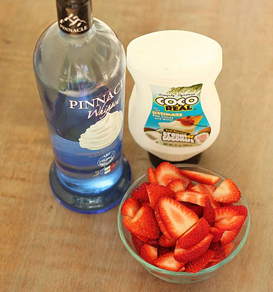 Ingredients2 cups sliced strawberries  1/3 cup cream of coconut  1/2 cup Pinnacle Whipped Vodka  2 cups iceInstructionsBlend all ingredients together in a blender until smooth.