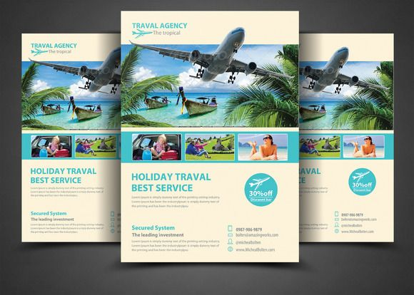 Travel Agency Corporate Flyer by AfzaalGraphics on @creativemarket