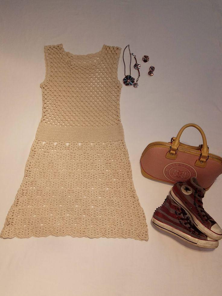 cotton crochet dress di NataTulip su Etsy