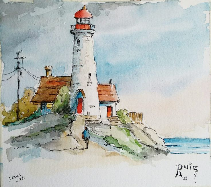 Best 25 Lighthouse drawing ideas