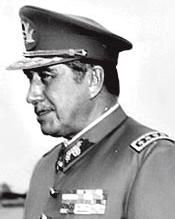 Augusto José Ramón Pinochet Ugarte, more commonly known as Augusto Pinochet (Spanish pronunciation: [auˈɣusto pinoˈtʃet]),[note 1] (25 November 1915 – 10 December 2006) was a Chilean army general and dictator who assumed power in a coup d'état on 11 September 1973.