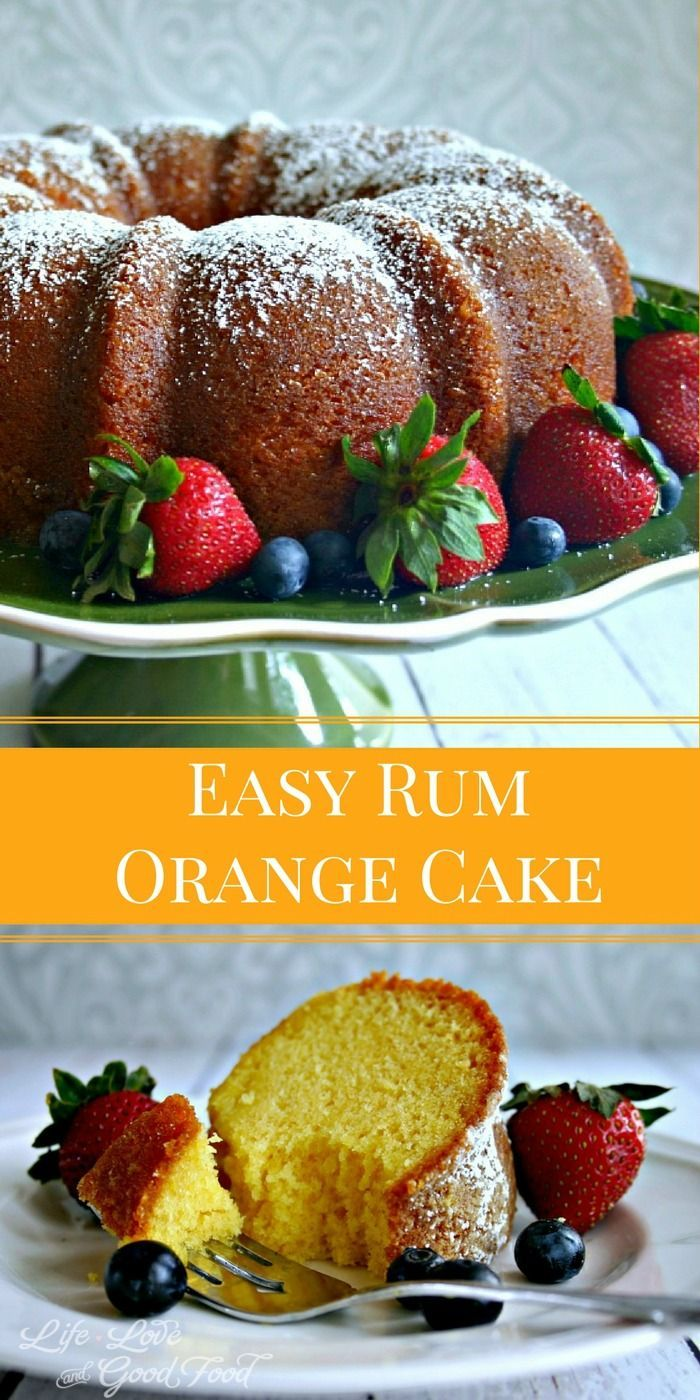 Orange cakes, Rum and Good food on Pinterest