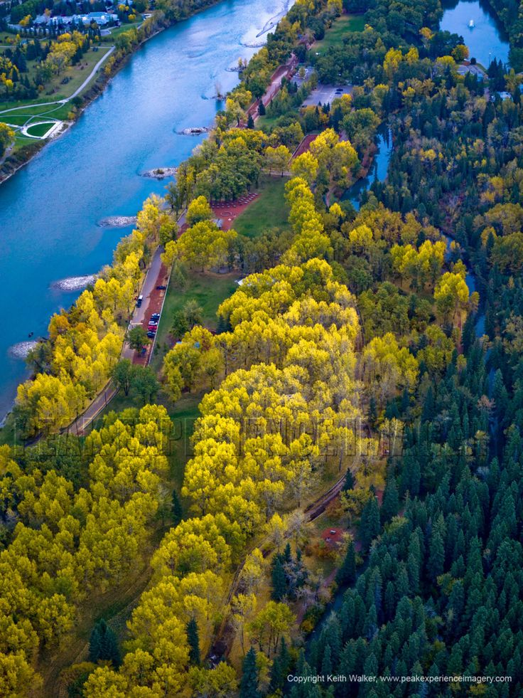 Bowness Park Calgary Alberta Aerial Photograph