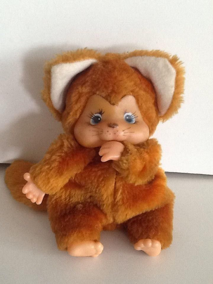 Cute chicabooo style monkey,(not sure of the date) this measures 5  tall It is in good vintage condition, This is in good condition there are no odour, or marks on him Uk bids only