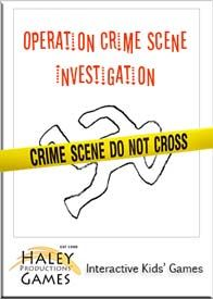 Crime scene investigation game for kids. This creative, fun crime investigation game includes a step by step organizer guide, all lab documents and evidence files, CSI ID card, award certificates, invitations, thank you notes, support from the game designer & more. It's great for team building and great for fun.