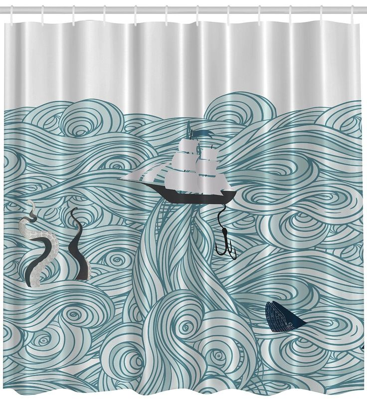 Cartoon Sailing Ship Design Shading Curtain Blackout: Best 25+ Teal Shower Curtains Ideas On Pinterest