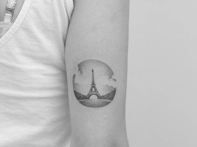 Handpoked a while ago! Eiffel Tower, in #paris . . . . #handpoked #handmade #nomachine #sansmachine #handpushed #sticknpoke #stickandpoke #sticknpoketattoo #tattoo #tatuajes #tatuaggio #tatuagem #handpokers #dotwork #conceptual #art #skin #travel #france #eiffeltower #french #romance #love by pontotattoo. travel #love #paris #french #conceptual #handpokers #handmade #tattoo #art #tatuaggio #eiffeltower #skin #tatuagem #sticknpoketattoo #nomachine #handpushed #tatuajes #romance #handpoked…