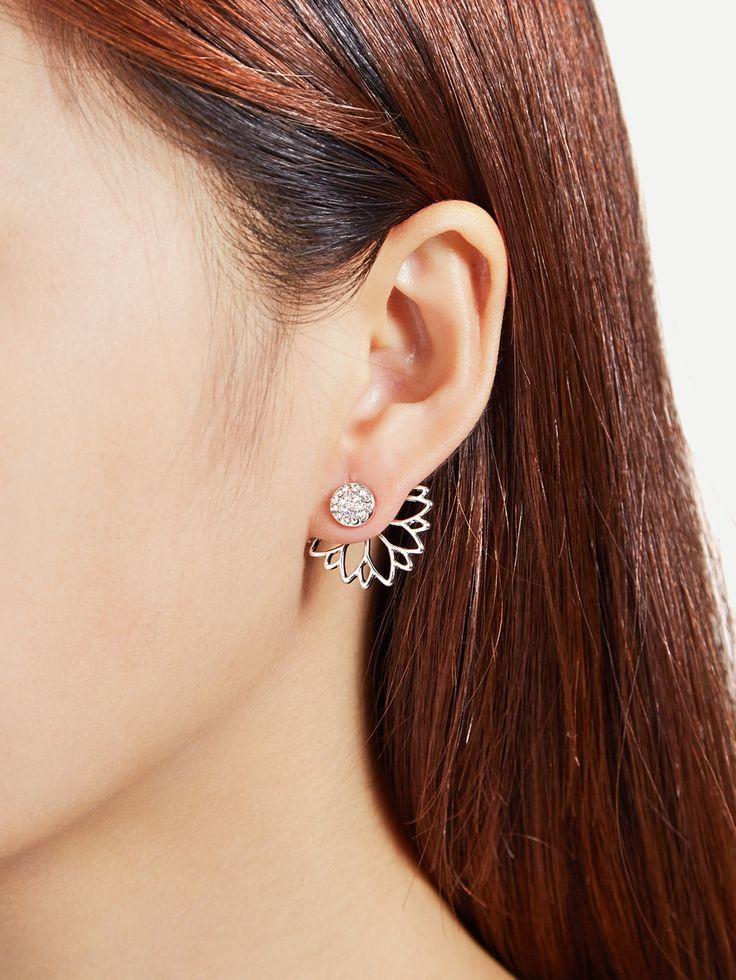 Shop Open Lotus Flower Stud Earrings online. SheIn offers Open Lotus Flower Stud Earrings & more to fit your fashionable needs.