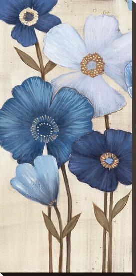 Fleurs Bleues I Stretched Canvas Print by Maja at Art.com