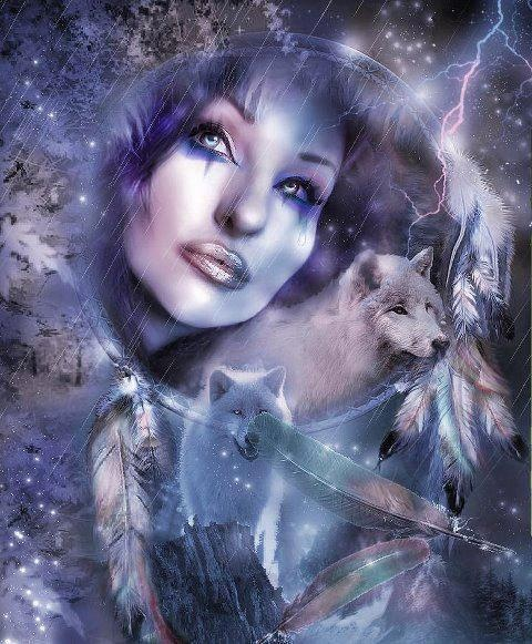 Wolves Girls And Wolf Girl: Wolves And Native American Indians