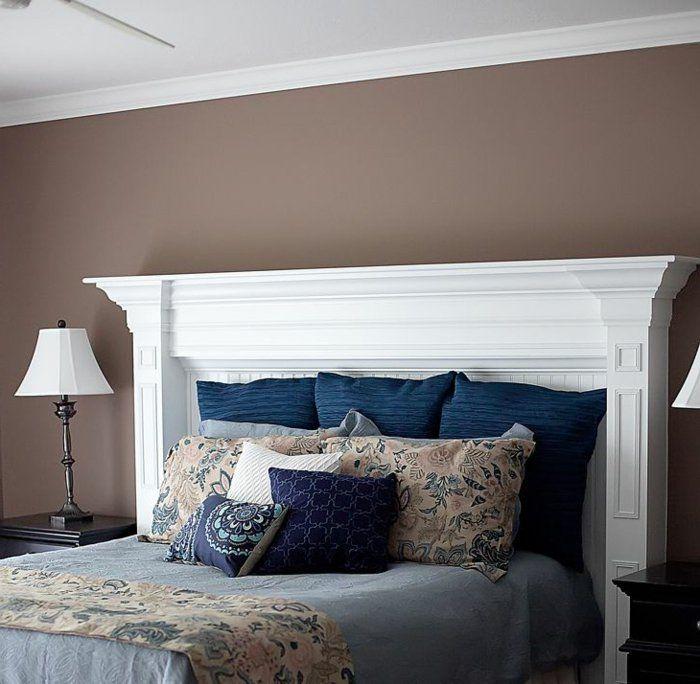 faire une tête de lit soi-même, tete de it fait de manteau de cheminée