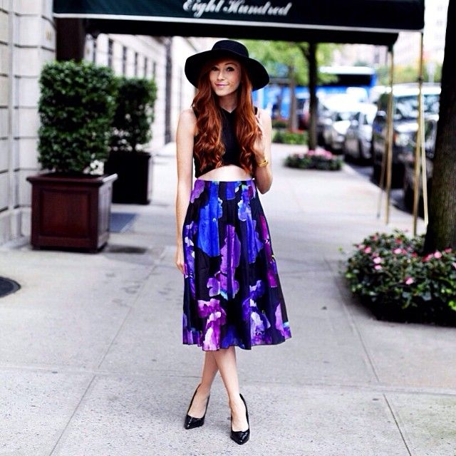 @retroflame strolling on #parkave NYC in #ristobimbiloski Spring2015 #nyc #streetstyle #theglobeshowroom