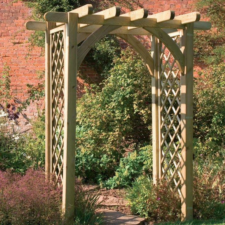 Altars Canopies Arbors Arches: Garden Trellis Pergola Premier Pergola Arch Buy Fencing