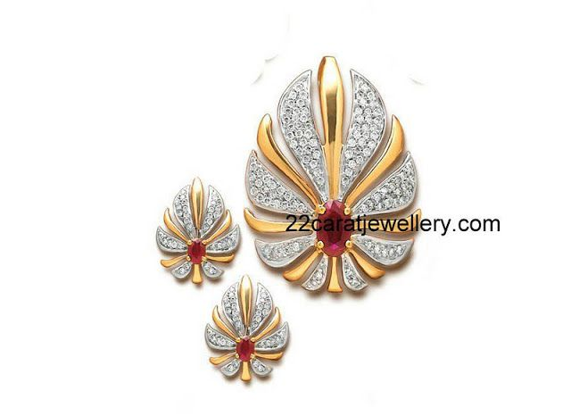 Jewellery Designs: Pendants and Earrings with Diamonds