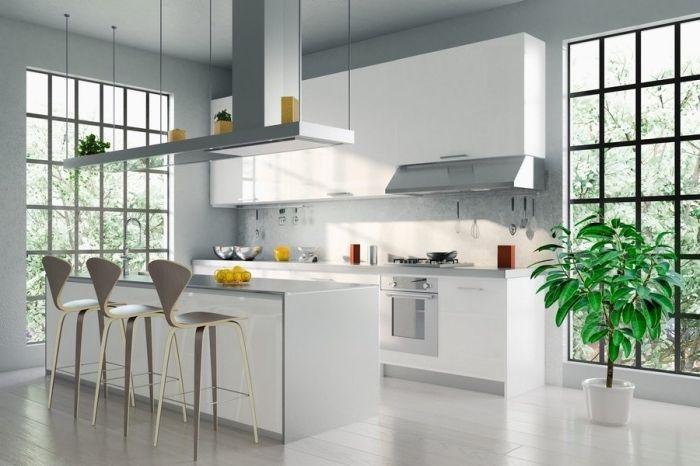 94 Design De Cuisine Blanche Et Grise Tendance Deco Pour 2019 Modele De Cuisine Moderne Cuisine Moderne Blanche Cuisine Moderne