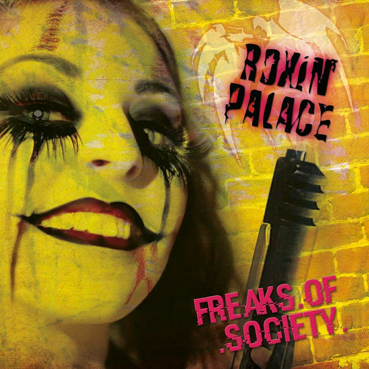 """""""Freaks Of Society"""" has been released in October 2016 via  Sleaszy Rider Records.  """"Freaks Of Society"""" is full of pure life and brings back easily lots of the great positive feeling out of the 80s, when popular acts like Mötley Crüe, Guns 'N Roses, Skid Row, Dangerous Toys, L.A. Guns, Bullet Boys, Roxx Gang, Ratt, Faster Pussycat, Vain, Bang Tango, Shotgun Messiah were a real big thing! Let's get back to the thrilling rockin' spirit of these colorful times with ROXIN' PALACE!"""