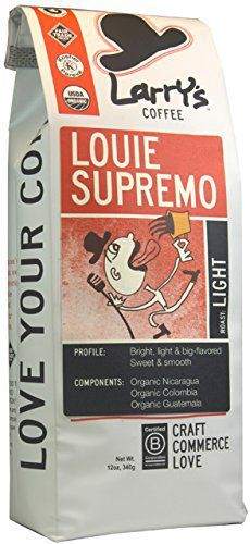 Larry's Beans Fair Trade Organic Coffee, Louie Supremo, Whole Bean, 12-Ounce Bags (Pack of 3) - http://goodvibeorganics.com/larrys-beans-fair-trade-organic-coffee-louie-supremo-whole-bean-12-ounce-bags-pack-of-3/