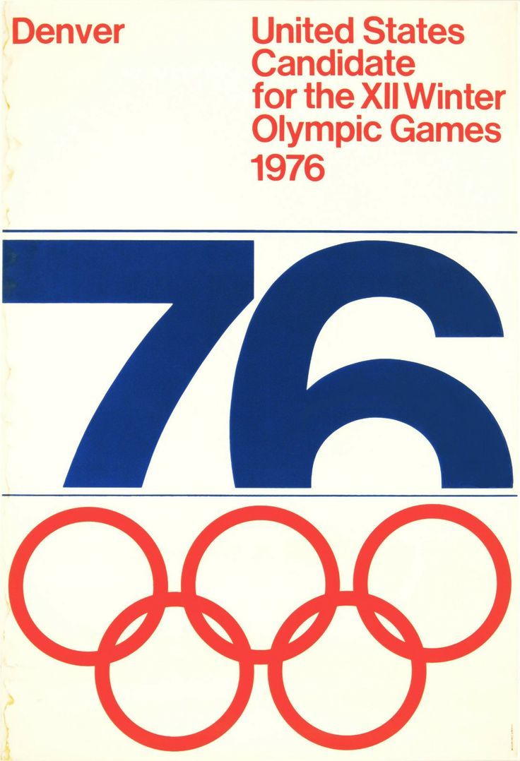 Denver US Candidate for the XII Winter Olympic Games 1976 design by Guenther…