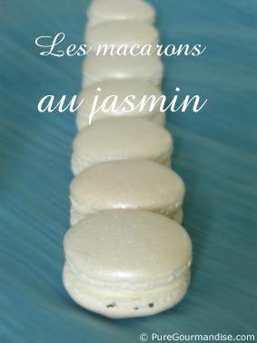 macarons au jasmin