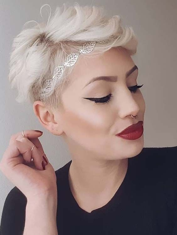 42 Trendy Short Blonde Pixie Haircuts For Women 2018 Makeup