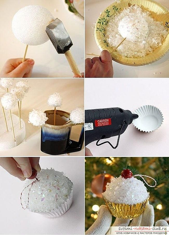Как сделать елочные игрушки: шары, снежинки и многое другое своими руками, мастер классы по созданию новогодних елочных игрушек с пошаговыми фото и описанием. Фото №12