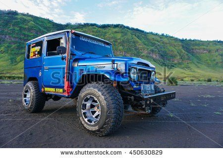 BROMO, INDONESIA - 27 JUNE 2016: Local jeep used for visiting volcanoes, Java…