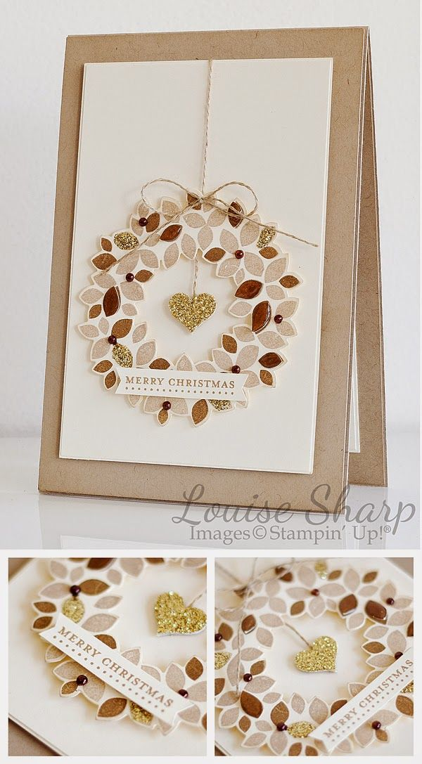 By Louise Sharp | Rustic Wondrous Wreath | Stampin' Up!