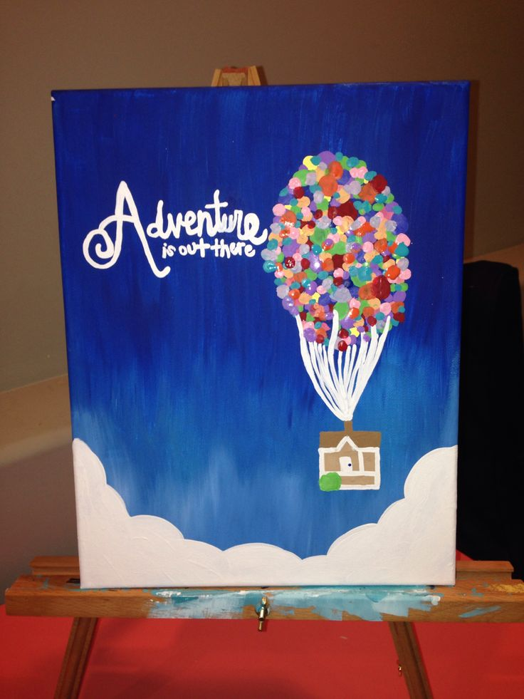 Up canvas adventure is out there diy canvas ideas for Paint to canvas
