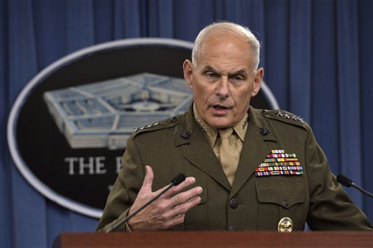 """Katie bar the door..."" - "" Without a doubt, a highly decorated, four-star Marine Corps General has courage and conviction. But this particular Marine — Gen. John Kelly, head of the U.S. Southern Command — has demonstrated real guts by coming right out and saying something that his own Commander-in-Chief might not like to hear."""