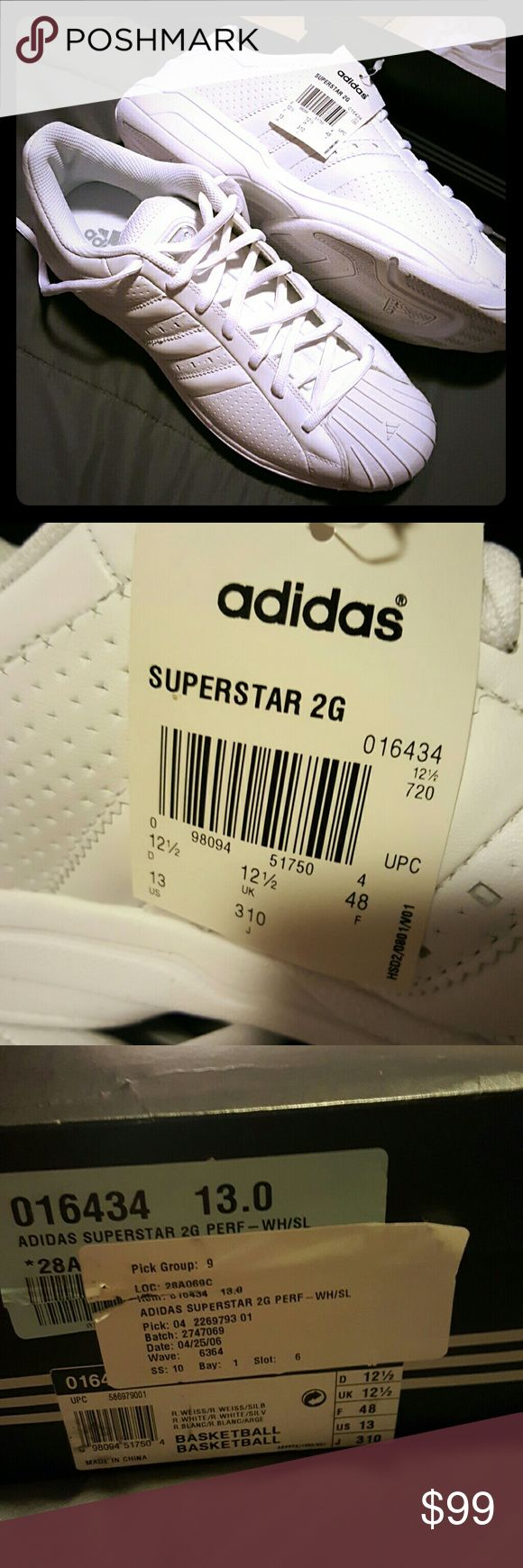 Mens adidas superstar sneakers adidas superstar 2g perf - new in box never worn Adidas Shoes Sneakers