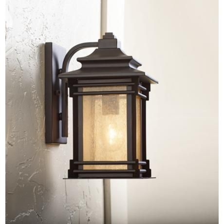 Hickory Point 12″ High Walnut Bronze Outdoor Wall Light – #09559   Lamps Plus