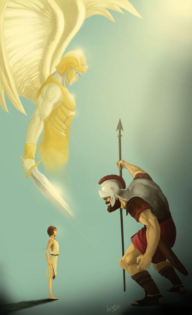 David and Goliath | ImagineFX - David and Goliath