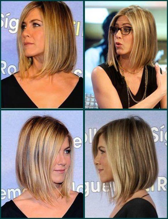 Jeniffer Aniston corte de cabelo medio - medium hairstyle