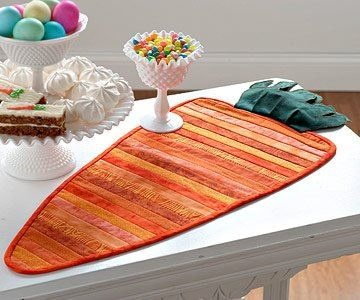 Carrot Quilted Table Mat