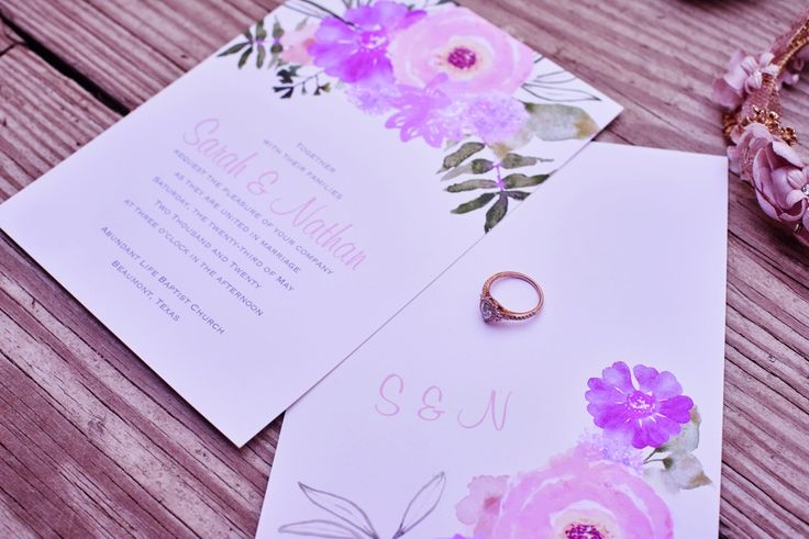 Watercolor wedding invitations for your beach wedding from Invitations by David's Bridal