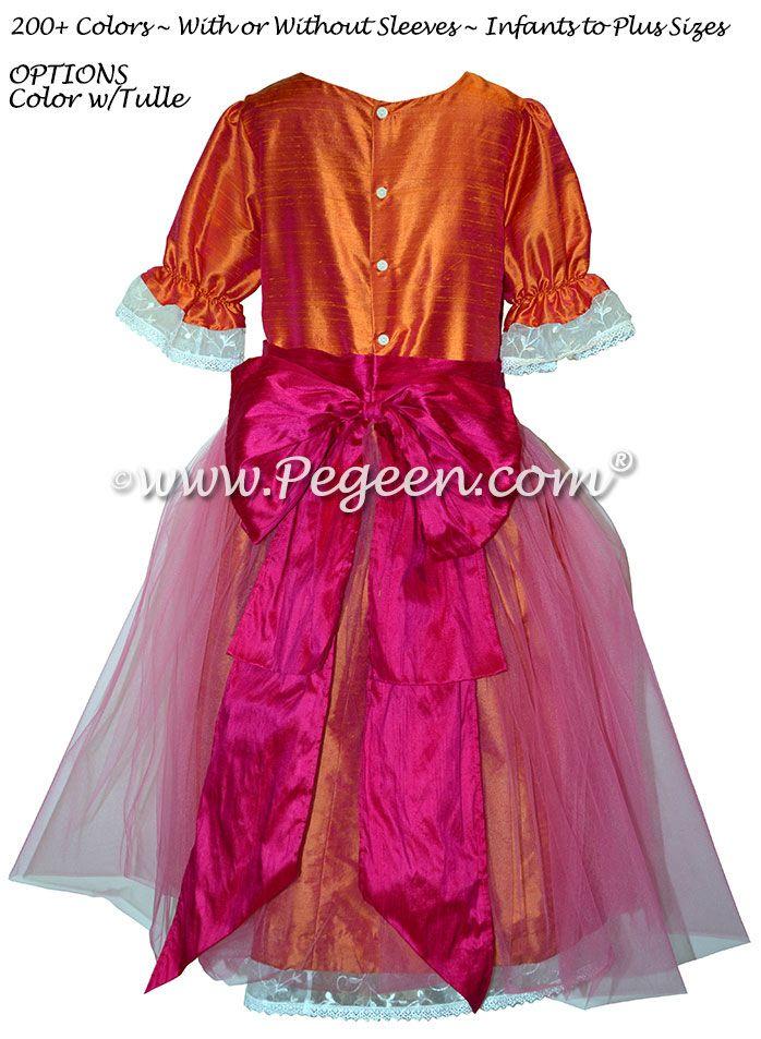 Mango and Pink Nutcracker Dresses - Nutcracker Costumes for Clara or Party Scene Dancers