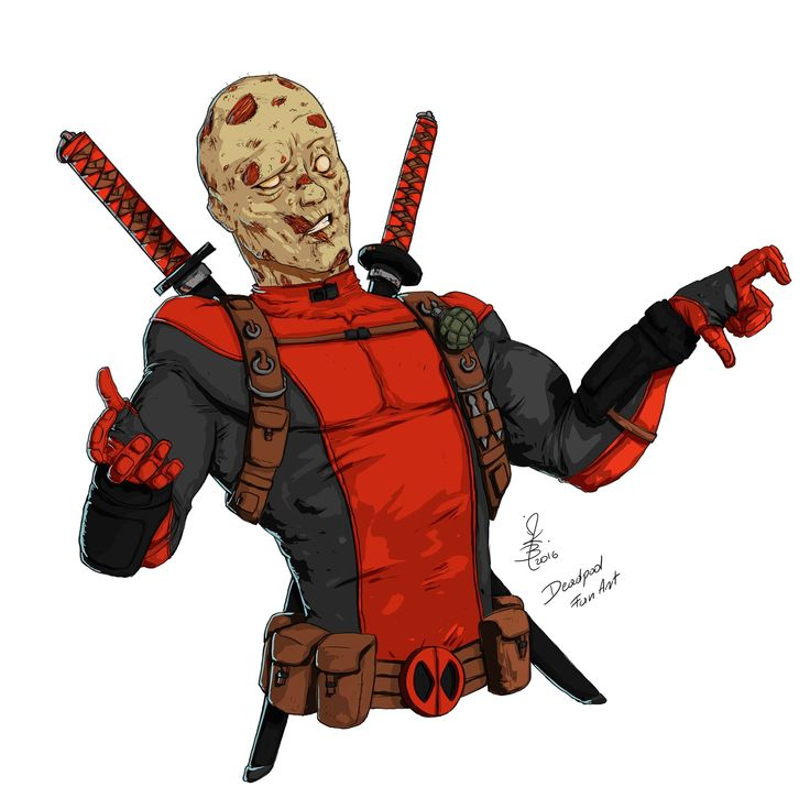 Jakub Kaktus art portfolio: Deadpool fan art #001
