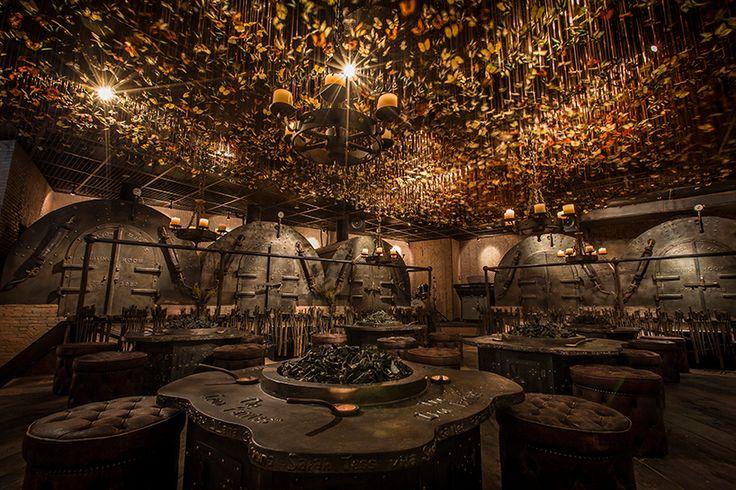 10,000 butterflies flutter over enchanting underground bar by ashley sutton
