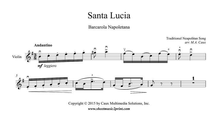 Santa Lucia - Violin