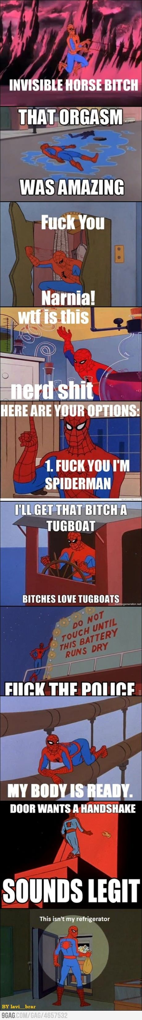 I don't know why these Spiderman things crack me up, but they do.