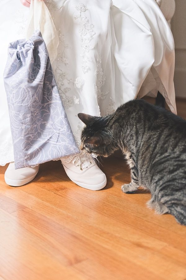 grumpy cat wedding invitations%0A DIY Wedding Shoe Bag with Keds