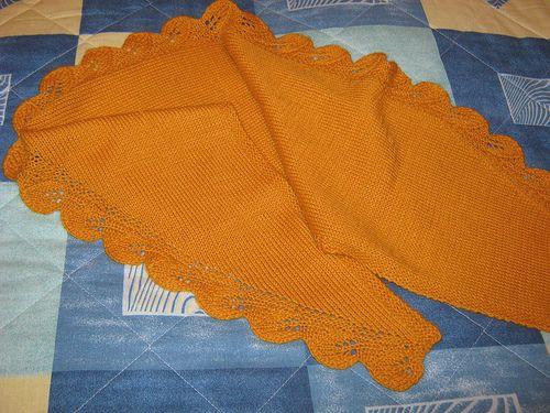 Ravelry: romantales' pumpkin colour shawl