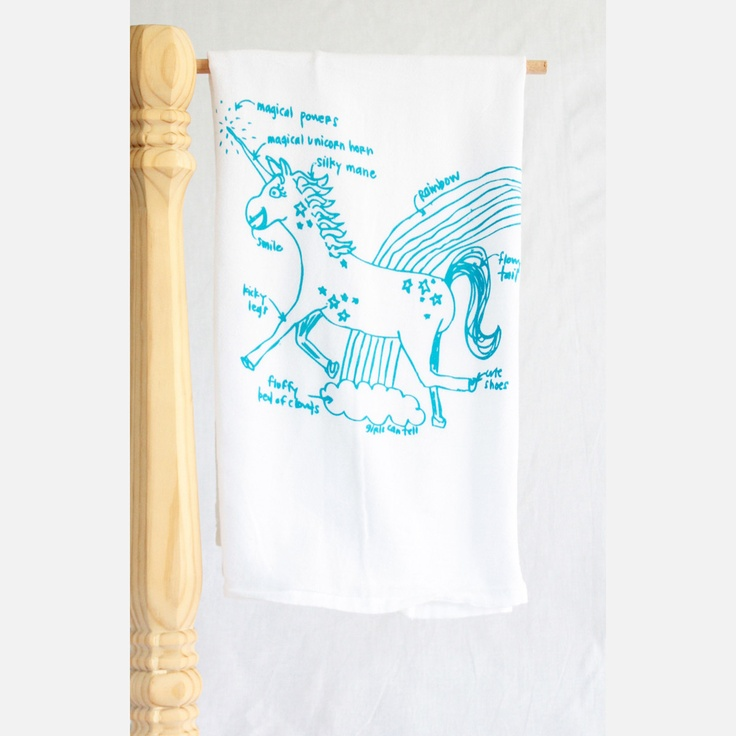 Unicorn tea towel. Awesome.