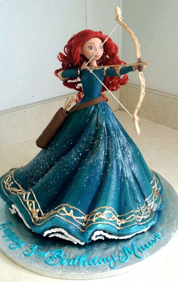 Princess Merida Doll Cake!